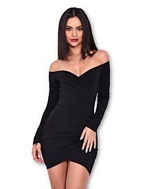 AX Paris Slinky Off the Shoulder Wrap Dress