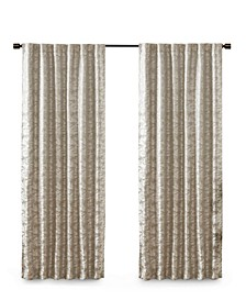 "Cassius 50"" x 84"" Marble Jacquard Total Blackout Window Panel"