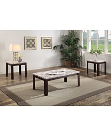 Carly 3-Piece Coffee-End Table Set