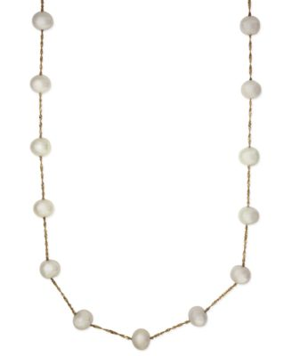 Image of EFFY Cultured Freshwater Pearl Station Necklace in 14k Gold (5-1/2mm)