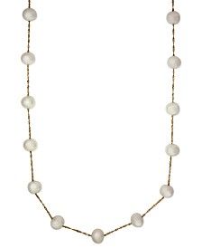 "EFFY® Cultured Freshwater Pearl Station 18"" Necklace in 14k Gold (5-1/2mm)"