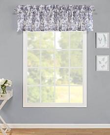 Annalise Floral Shadow Grey Window Valance