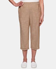 Alfred Dunner Petite Santa Fe Utility-Pocket Capri Pants
