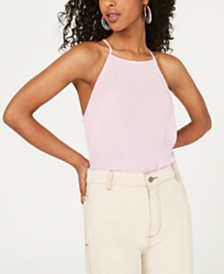 Ultra Flirt Juniors' Back-Tie Tank Top