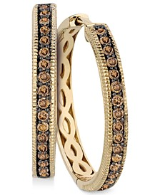 Chocolate Diamonds® Hoop Earrings in 14k Gold (5/8 ct. t.w.)