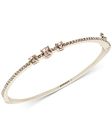 Crystal & Pavé Bangle Bracelet