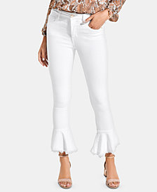 GUESS New 1981 Cropped Flare Jeans