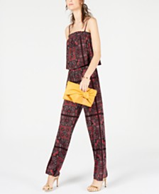 I.N.C. Paisley Printed Jumpsuit, Created for Macy's