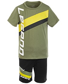 Little Boys 2-Pc. Legend T-Shirt & Shorts Set, Created for Macy's