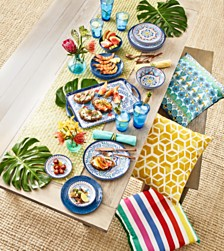 Capri Isle Melamine Total Outdoor Dinning Collection