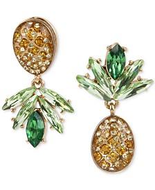 Betsey Johnson Gold-Tone Pineapple Mismatch Drop Earrings