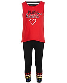 Little Girls Strappy Back Graphic Tank Top & Leggings Separates, Created for Macy's