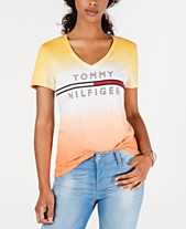 9431cceac Tommy Hilfiger Cotton Ombré Logo T-Shirt, Created for Macy's