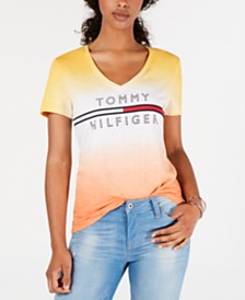 Tommy Hilfiger Cotton Ombré Logo T-Shirt, Created for Macy's