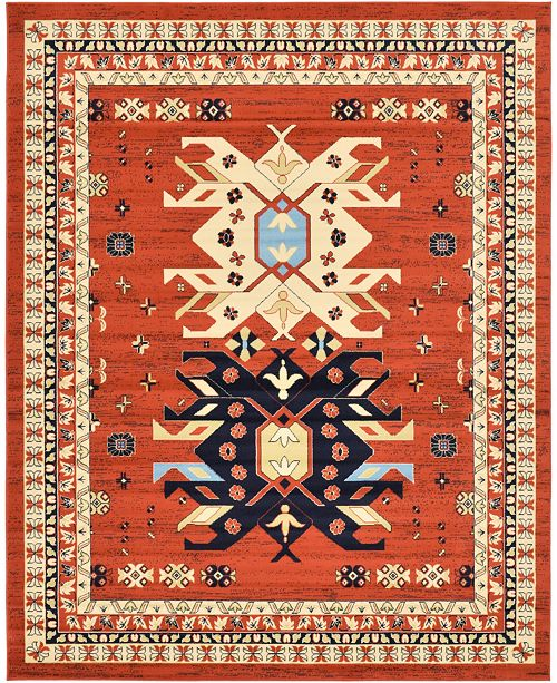 Bridgeport Home Charvi Chr1 Terracotta 8' x 10' Area Rug
