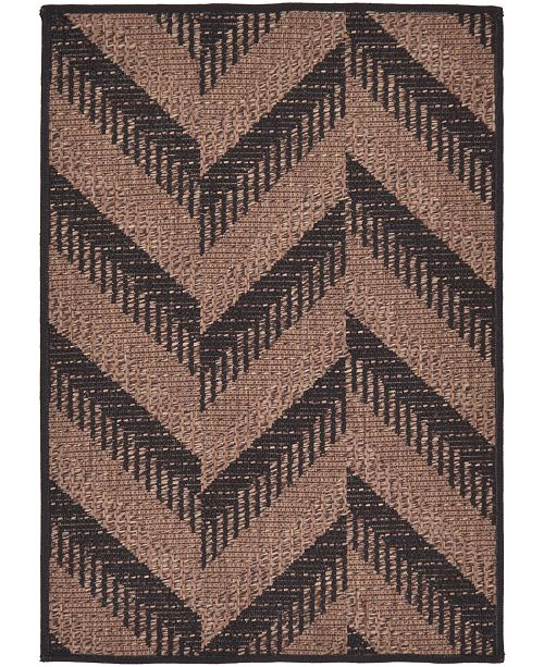 "Bridgeport Home Pashio Pas6 Brown 2' 2"" x 3' Area Rug"