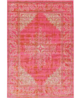 Aroa Aro8 Pink 6' x 9' Area Rug