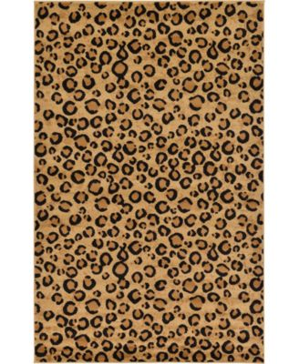 Maasai Mss2 Light Brown 5' x 8' Area Rug