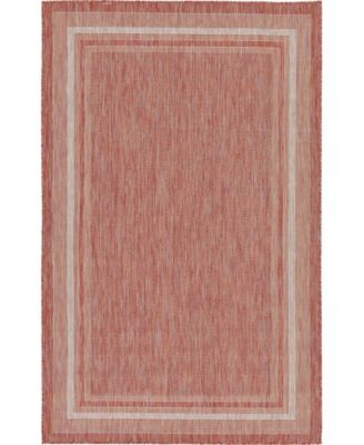 Pashio Pas5 Rust Red 5' x 8' Area Rug