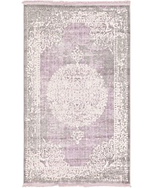 "Norston Nor4 Purple 3' 3"" x 5' 3"" Area Rug"
