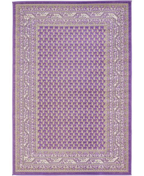 Bridgeport Home Axbridge Axb1 Violet 4' x 6' Area Rug