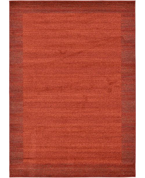 Bridgeport Home Lyon Lyo4 Terracotta 8' x 11' Area Rug