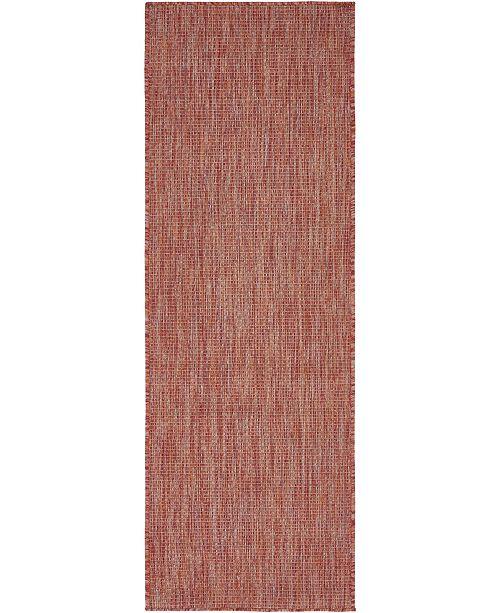 Bridgeport Home Pashio Pas6 Rust Red 2' x 6' Runner Area Rug