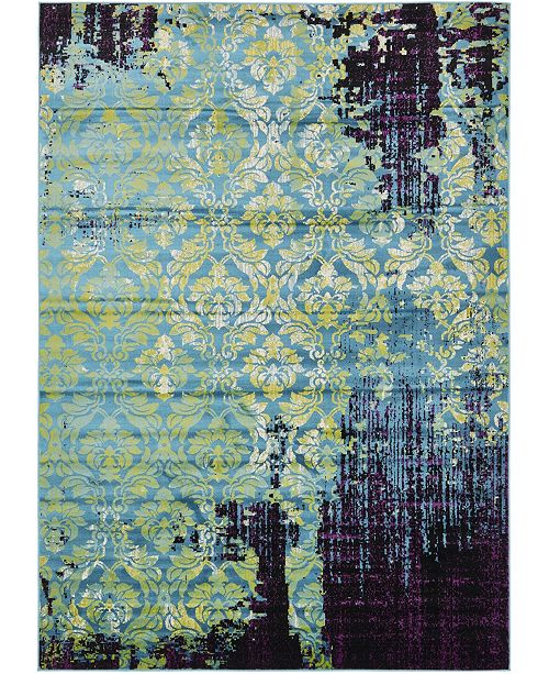 Bridgeport Home Linport Lin2 Blue 7' x 10' Area Rug