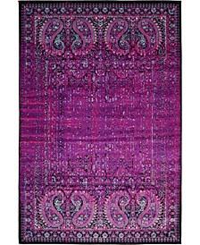 Linport Lin6 Lilac 4' x 6' Area Rug
