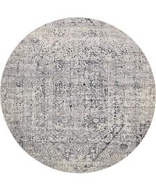 Bridgeport Home Odette Ode1 Gray 8' x 8' Round Area Rug