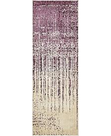 "Lyon Lyo2 Purple 2' 2"" x 6' Runner Area Rug"