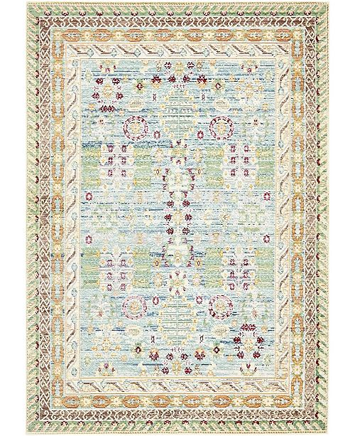 Bridgeport Home Malin Mal2 Blue 4' x 6' Area Rug