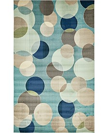 "Bridgeport Home Crisanta Crs6 Blue 10' 6"" x 16' 5"" Area Rug"