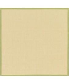 Bridgeport Home Bound Sisal Bds1 Cream/Green 8' x 8' Square Area Rug