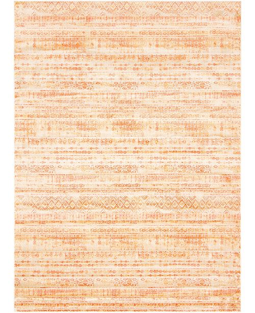 Bridgeport Home Haven Hav2 Orange 9' x 12' Area Rug