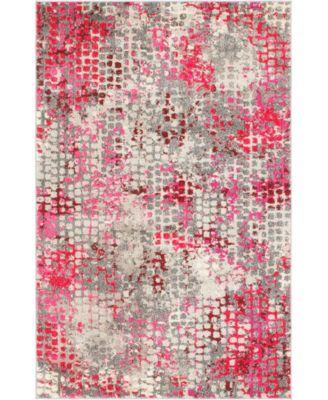 Crisanta Crs4 Pink 4' x 6' Area Rug