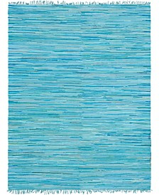 Bridgeport Home Jari Striped Jar1 Turquoise 8' x 10' Area Rug