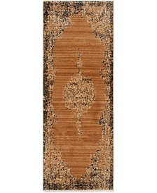 "Bridgeport Home Thule Thu2 Light Brown 2' 2"" x 6' Runner Area Rug"