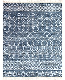 "Bridgeport Home Levia Lev1 Dark Blue 9' 3"" x 12' Area Rug"