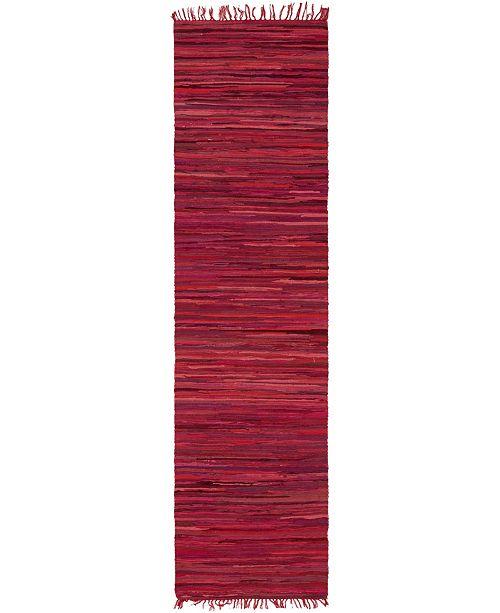 "Bridgeport Home Jari Striped Jar1 Red 2' 7"" x 9' 10"" Runner Area Rug"