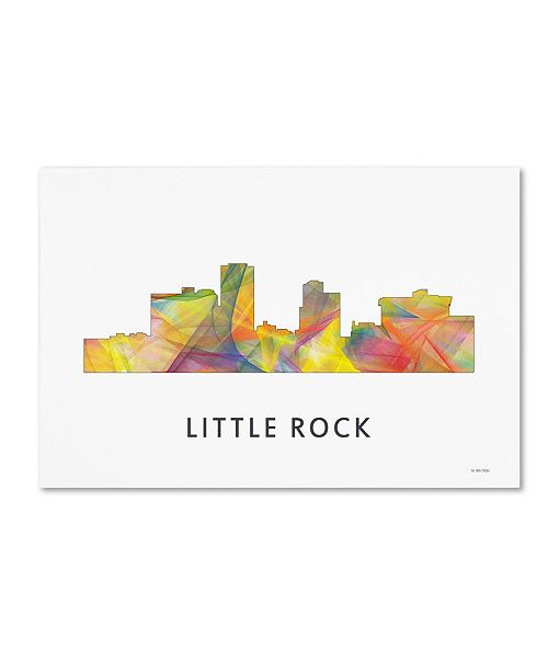 "Trademark Global Marlene Watson 'Little Rock Arkansas Skyline WB-1' Canvas Art - 16"" x 24"""