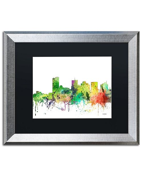 "Trademark Global Marlene Watson 'Phoenix Arizona Skyline SP' Matted Framed Art - 16"" x 20"""