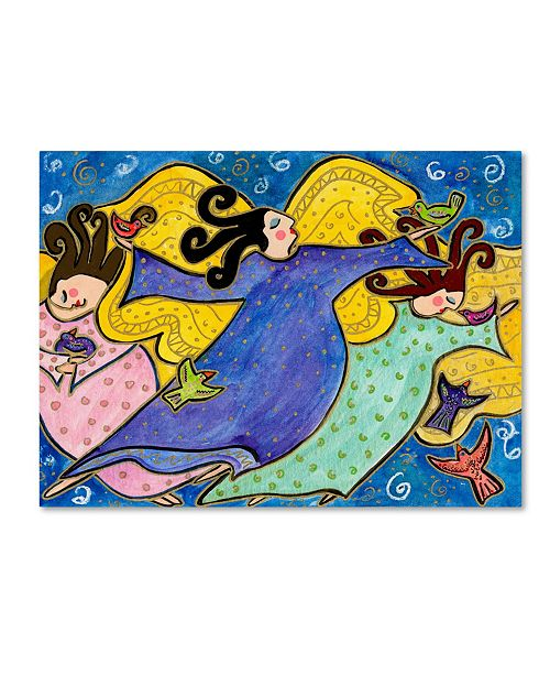"Trademark Global Wyanne 'Big Diva Dancing Angels' Canvas Art - 18"" x 24"""