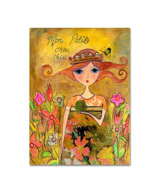 "Trademark Global Wyanne 'Big Eyed Girl My Little Cabbage' Canvas Art - 18"" x 24"""