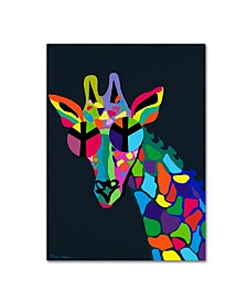 "Mark Ashkenazi 'Giraffe' Canvas Art - 18"" x 24"""