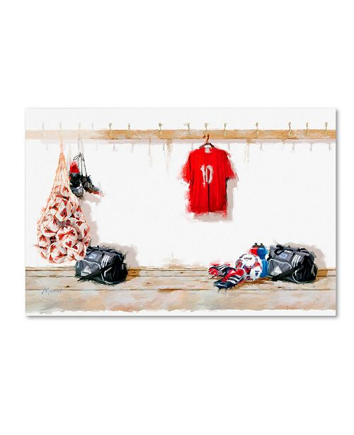 "Trademark Global The Macneil Studio 'Football' Canvas Art - 16"" x 24"""