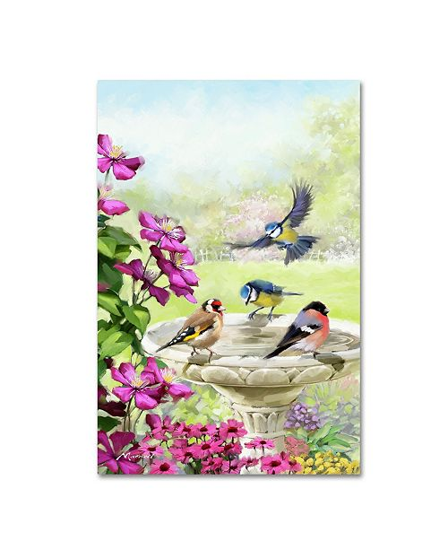 "Trademark Global The Macneil Studio 'Garden Birds' Canvas Art - 16"" x 24"""