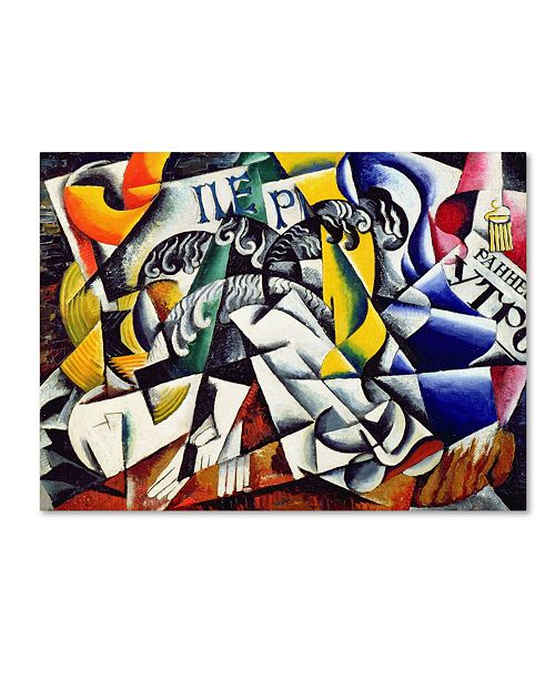 "Trademark Global Lyubov Popova 'Subject from a Dyer's Shop' Canvas Art - 18"" x 24"""