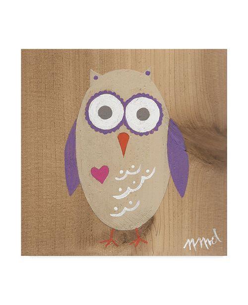 "Trademark Global Nicole Dietz 'Owl Purple' Canvas Art - 18"" x 18"""