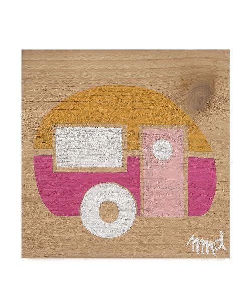"Trademark Global Nicole Dietz 'Yellow Pink Camp' Canvas Art - 18"" x 18"""